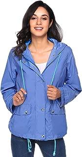 Zeagoo Women's Womens Lightweight Raincoat Hooded Waterproof Active Outdoor Rain Jacket