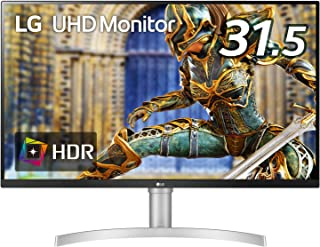 LG モニター ディスプレイ 32UN650-W 31.5インチ/4K/HDR/IPS非光沢/HDMI×2、DP/FreeSync対応/スピーカー搭載/フリッカーセーフ、ブルーライト低減/高さ調節