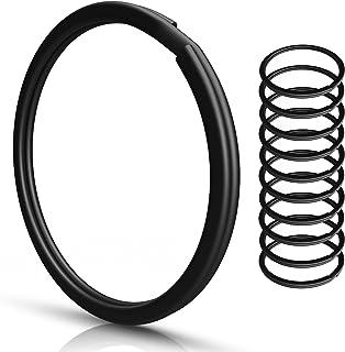 Sleutelringen | 30 mm - 10 stuks | gehard staal | robuust | zwart | buitendiameter 25 mm | magnetisch | ring voor sleutel...