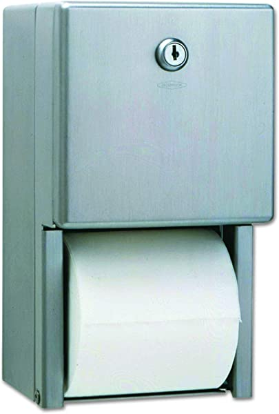 Bobrick 2888 Stainless Steel 2 Roll Tissue Dispenser 6 1 16 X 5 15 16 X 11 Stainless Steel Renewed