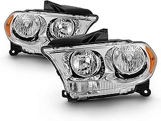 Fits 2011 2012 2013 Dodge Durango Halogen Models Headlights Headlamp w/Amer side Pair Left+Right