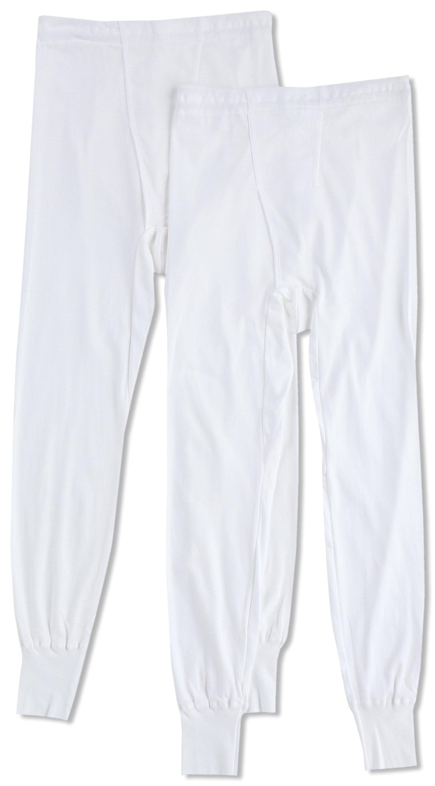 (郡是) GUNZE 长衬裤 柔软的内衣 ***纯棉 ***防臭工艺 前门襟 2条装