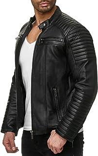ff1a654a91b2e Amazon.fr : Blouson cuir - Homme : Vêtements