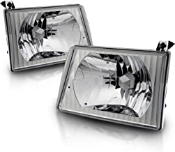 AmeriLite Van Crystal Headlights for Ford Econoline - Passenger and Driver Side