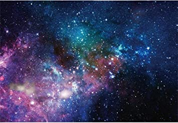 ALUONI 5x3ft Space Decorations,Starry Deep Outer Space Nebula and Galaxy in The Photography Backdrop Photo Backdrops Portrait Background Studio Props AM029745