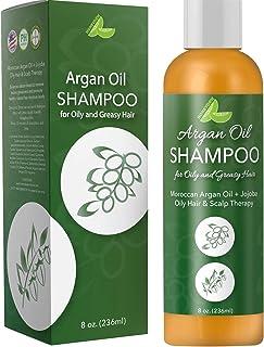 Argan Oil Shampoo for Oily Hair + Scalp - Sulfate Free Clarifying Shampoo for Greasy Hair - Volume Shampoo for Men + Women...
