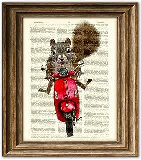 Best squirrel wall art Reviews