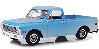1971 Chevrolet C-10 Pickup Truck Light Blue (Dusty) The Texas Chainsaw Massacre (1974) Movie 1/18 Diecast Model Car by Highway 61 18014