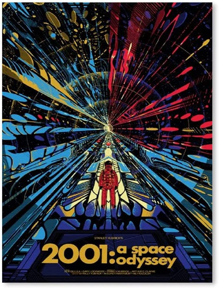 Challenge the lowest price of Japan ☆ Large Canvas 5 ☆ very popular 2001 A Space Odyssey Offi Movie Art For Poster Wall