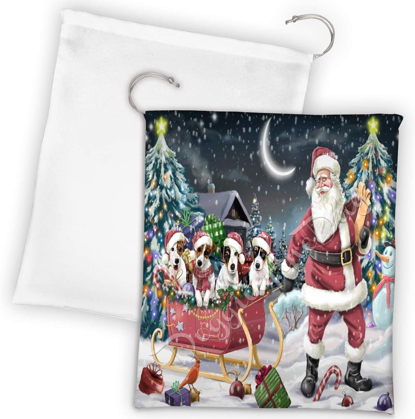 Max 75% OFF Santa wholesale Sled Dogs Christmas Happy Draws Russell Jack Holidays