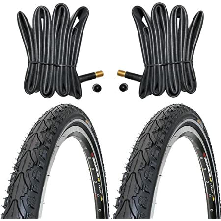 2 x 28 Zoll 28x1,75 RITECH Fahrrad Reifen 47-622 schwarz Allwetter Schlauch DV