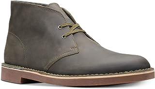 أحذية Clarks رجالي جلد زيتي Bushacre 2 Aubergine Chukka