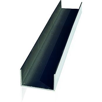 10000 Profil/é en U en aluminium. 8 x 8 x 8 x 1 mm x 1000 mm