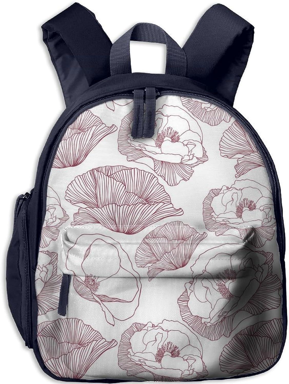 Lightweight Travel School Backpack Poppy Poppy Poppy Flower(163) For