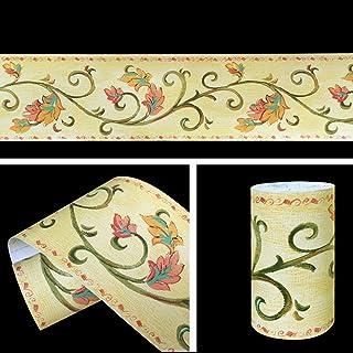 amazon com peel and stick wallpaper borders wallpapersimplelife4u leaf vine wallpaper border roll self adhesive wall borders home kitchen bathroom bedroom decor