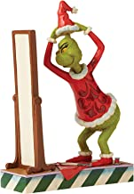 "Enesco Jim Shore The Grinch Dressing in Santa Suit Figurine, 8.86"" H, Multicolor"