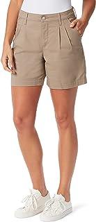 "Gloria Vanderbilt Women's High Rise 6"" Inseam Pleated Short"