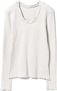 (レイビームス)Ray BEAMS/カットソー/パターン リブ ツイスト ネックTシャツ レディース