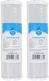 2-Pack Replacement WaterPur CCI-10-CLW Activated Carbon Block Filter - Universal 10 inch Filter for WaterPur Clear Water Filter Housing - Denali Pure Brand