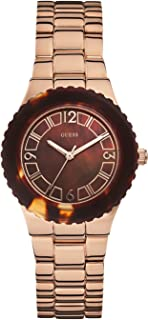 Guess Womens Quartz Watch, Analog Display and Stainless Steel Strap W0468L1