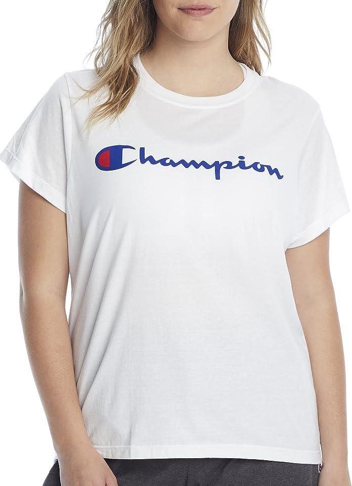 Champion Size Women's Plus Classic Tee-Graphic