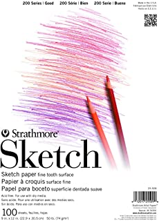 "Strathmore (25-509) STR-025-509 100 Sheet Sketch Pad, 9 by 12"", 9""x12"""