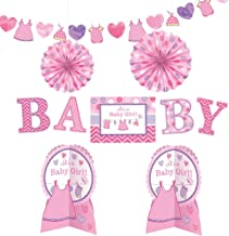 Amscan Shower with Love Girl Room Decorations Kit