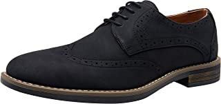 VOSTEY Men's Oxford Lightweight Suede Dress Shoe Round Toe Classic Casual Dress Shoes