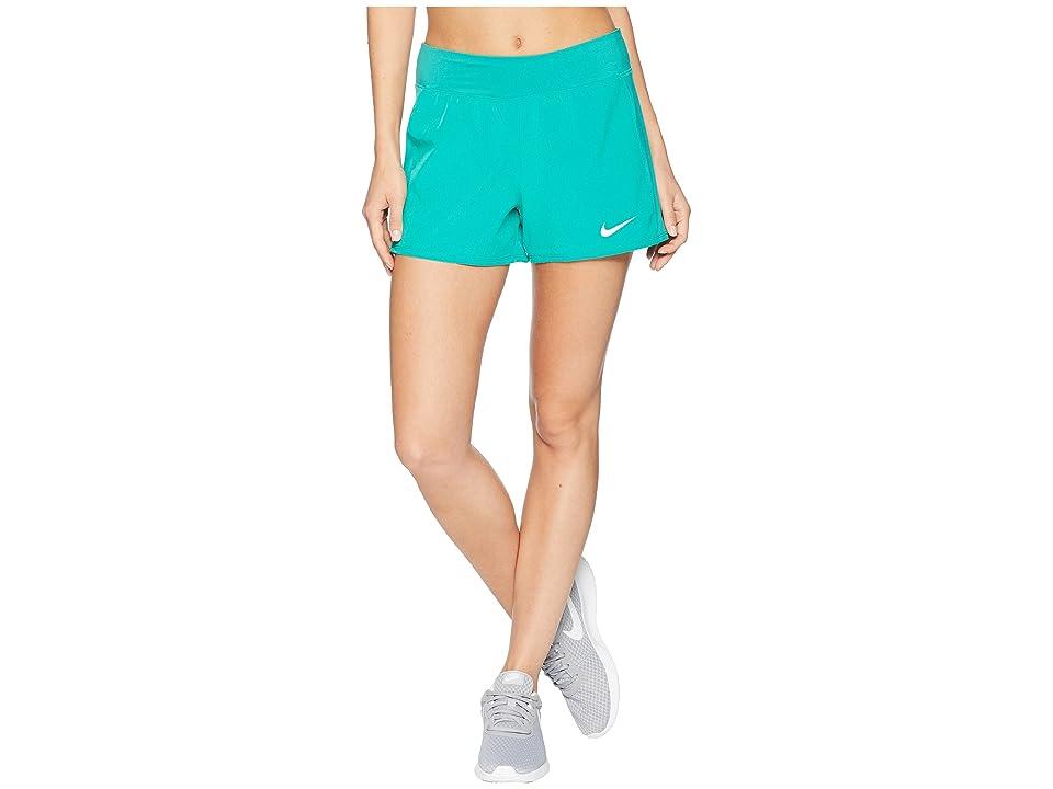Nike Nike Court Flex Pure Tennis Short (Neptune Green/White) Women