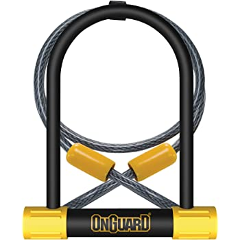 OnGuard Bulldog DT U-Lock with 4-Foot Cinch Loop Cable (Black, 4.53 x 9.06-Inch)