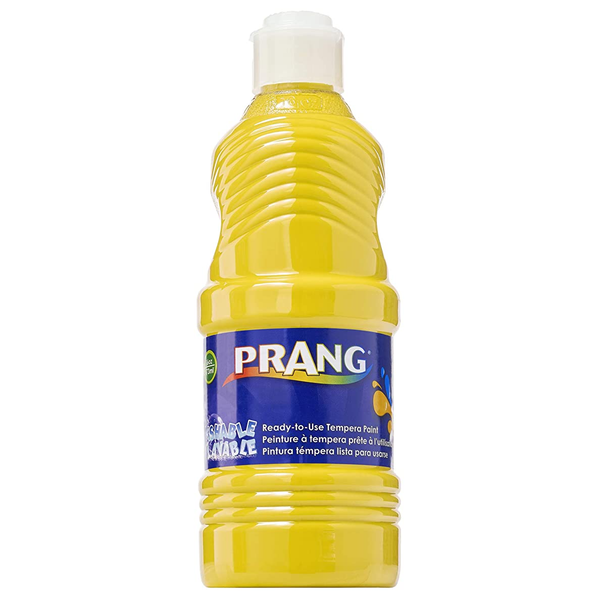 PRANG Ready-to-Use Washable Tempera Paint, 16-Ounce Bottle, Yellow (10703)