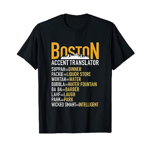 Wicked Smaht Boston Accent Translator Bostonians Gifts Shirt