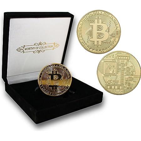 Bitcoins, eine virtuelle Währung in körperlicher Form, auf US-Dollar Noten