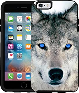 Teleskins Protective Designer Vinyl Skin Decals/Stickers for Otterbox Symmetry iPhone 6/6S Case -Blue Eyed Wolf Face Wolves Design Patterns - only Skins and not Case