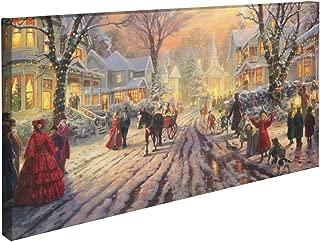 Thomas Kinkade A Victorian Christmas Carol 16 x 31 Gallery Wrapped Canvas