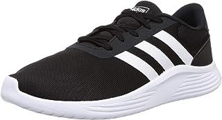 Adidas Lite Racer 2.0 Textile Side Stripe Heel-Tab Logo Running Shoes for Men - Core Black, 42