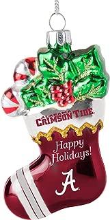 Boelter Brands Alabama Crimson Tide Blown Glass Glitter Stocking Ornament