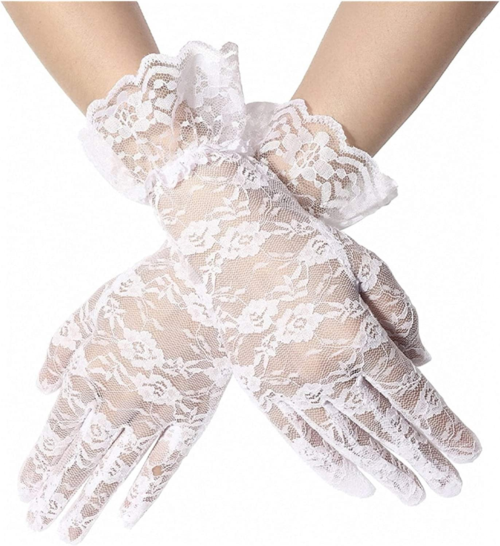 Bargain sale YSYSPUJ Sun Protection Gloves White Lace UV Max 85% OFF or Black