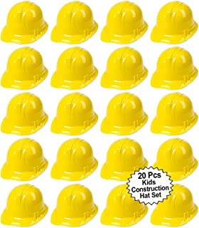 Anapoliz Toy Construction Hard Hats | 20 Pcs. Soft Plastic Yellow Kids Party Hat | Children's Engineer, Building Dress Up ...