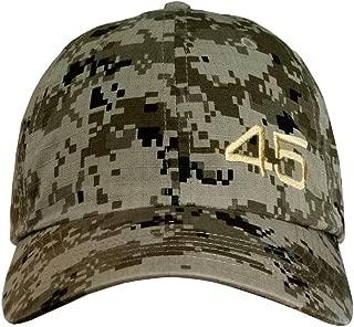 Treefrogg Apparel 45 Trump Hat/Cap - Black Structured Mesh Back, Unstructured, CAMO