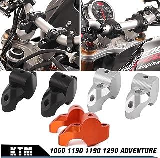 XX eCommerce Motorcycle Motorbike Handlebar Grip Lever Raised Extend Move Up 30mm Back 20mm Bar Clamp Mount Riser Bracket Kit For KTM 1050 1190 1290 (Black)