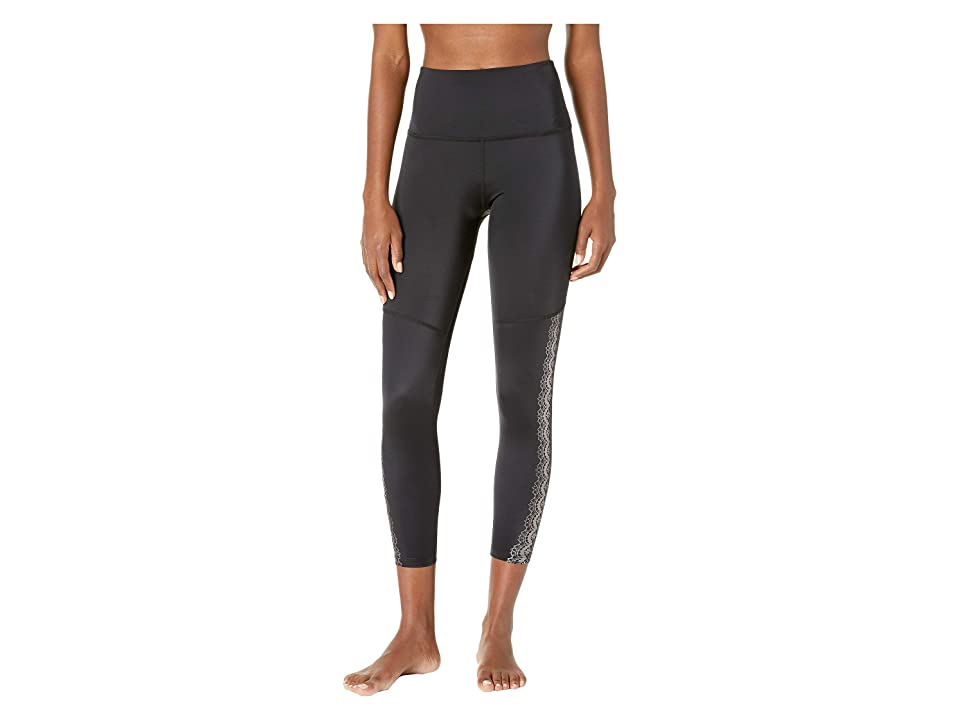 Beyond Yoga Down The Line High-Waisted Midi Leggings (Black) Women