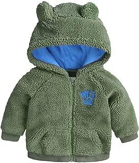 WARMSHOP Baby Boys Girls Coat,2019 Winter Thick Warm Cartoon Bear Letter Zipper Hooded Jacket Outwear Snowsuit