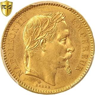 1864 A Napoléon III 20 Francs PCGS MS61