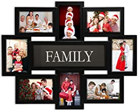 Jerry & Maggie - Photo Frame 22x17 Black Family Picture Frame Selfie Gallery Collage Wall Hanging for 6x4 Photo - 8 Photo ...