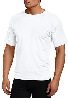Kanu Surf Men's Big Extended-Size UPF 50+ Solid Rashguard Swim Shirt