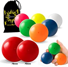 Play SIL-X Light Stage Balls - for Contact Juggling, Body Rolling Manipulation and Includes Flames N Games Bag! Available in 2 Sizes!!Set Includes 1 SIL-X Light Stage Ball