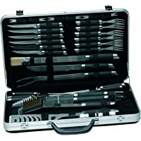 Geminis 33-Piece Stainless-Steel BBQ Set with Case