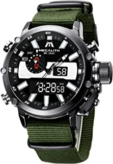 MEGALITH Orologio Uomo Orologi Digitale Militari Sportivo,Multifunzione LED Cronografo Impermeabile Orologio,Quadrante Gra...
