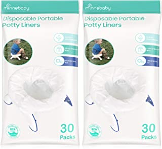 Potty Liners Disposable, Refill Potty Bags Universal Fit All Size Potty Seat/Chair, 60 Counts, Pack of 2